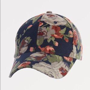 Floral baseball cap